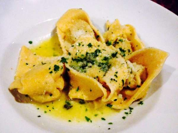 Roasted butternut squash tortelli are served at Pentimento