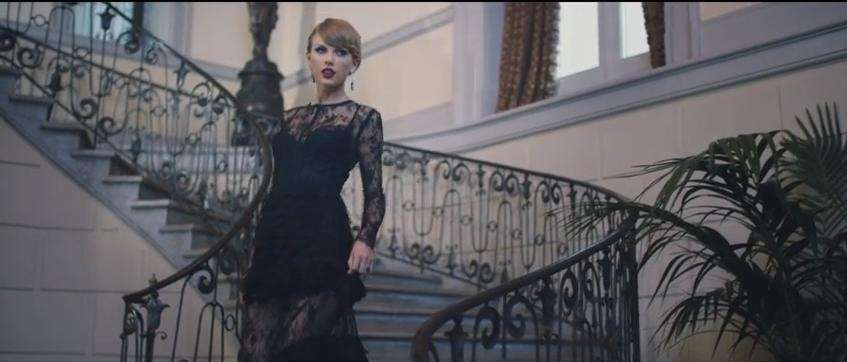"Taylor Swift in her music video for ""Blank"