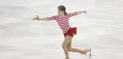Julia Lipnitskaia of Russia performs during her ladies'