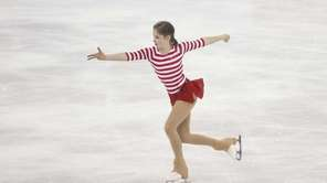 Julia Lipnitskaia of Russia performs during her ladies'