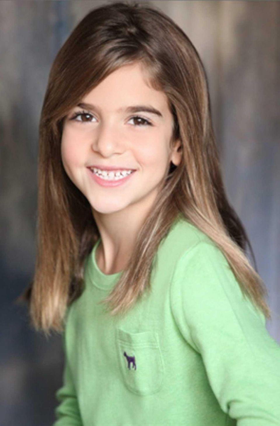 Ava Della Pietra, 9, a fourth-grader at W.S.