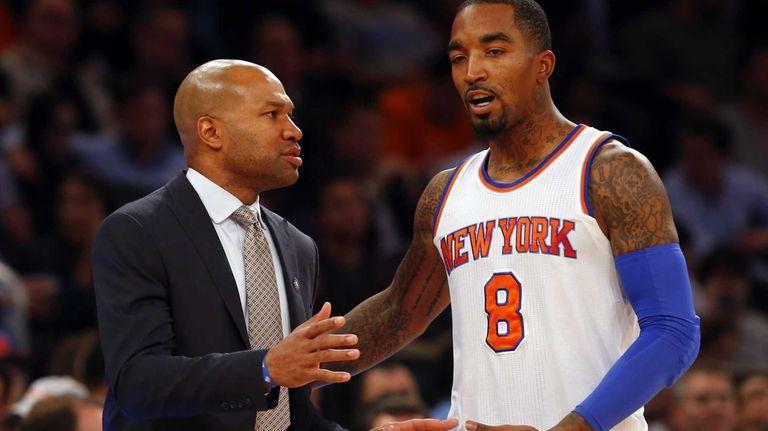 Derek Fisher of the New York Knicks talks
