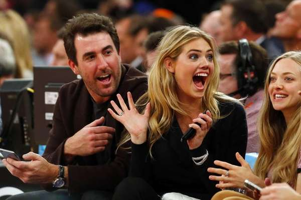 Model Kate Upton and Detroit Tigers pitcher Justin