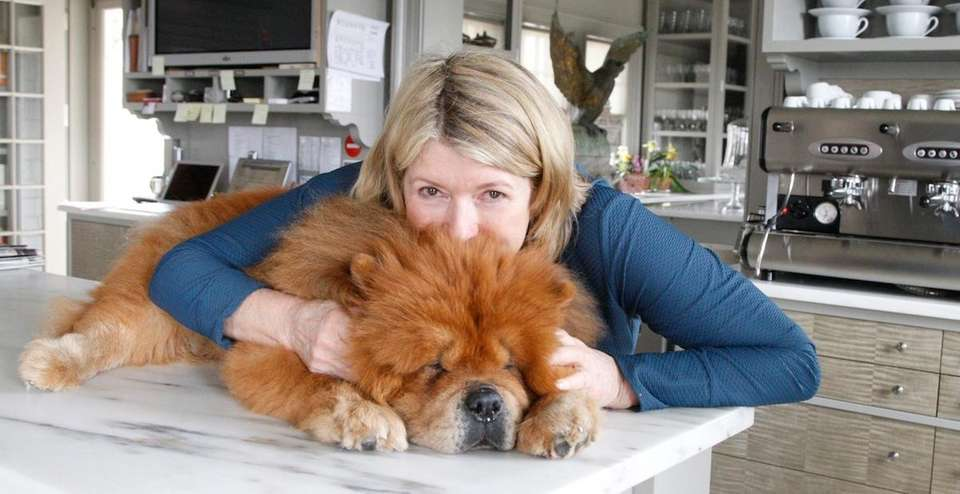 Martha Stewart with her dog Paw Paw at