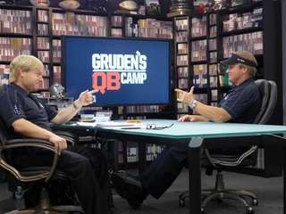 Frank Caliendo, left, impersonates ESPN football analyst Jon