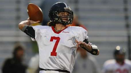 William Hogan of the Syosset Braves looks to