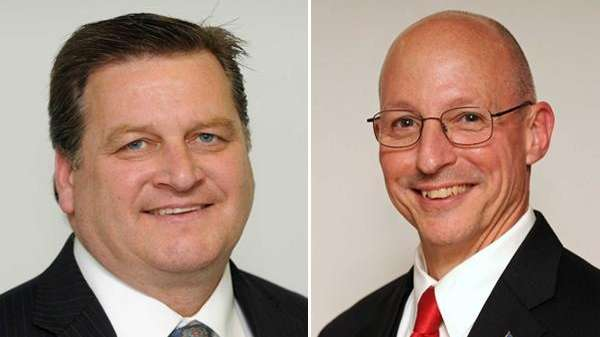 Republican Dean Murray, right, edged out incumbent Democrat