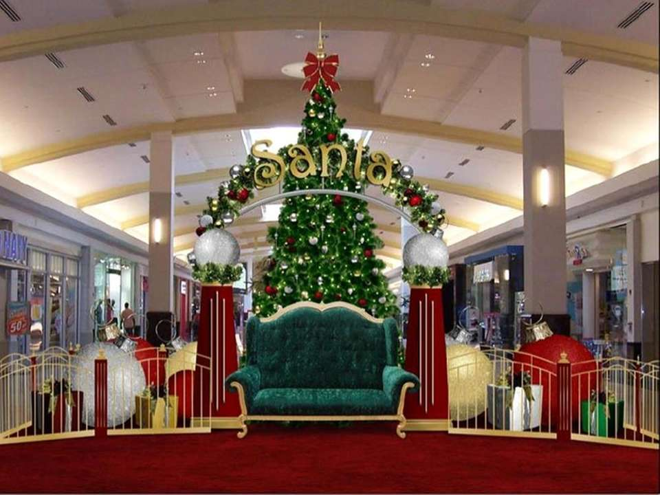 Santa will be at the Green Acres Mall