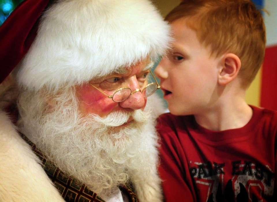 Visit Old St. Nick daily now through Dec.