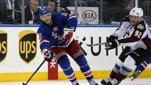 Dan Boyle of the New York Rangers skates