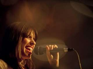 Vocalist Lisa Gary of Great Neck performs with