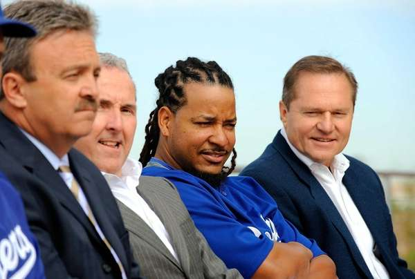 Manny Ramirez, left, and Ramirez's agent Scott Booras