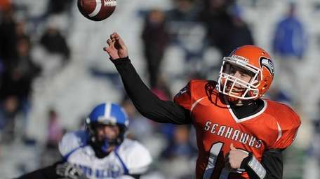 Carey's Mike Catanese throws a pass during the