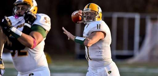 LIU Post quarterback Steven Laurino passes during a