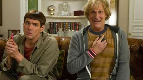 Jim Carrey, left, and Jeff Daniels in a