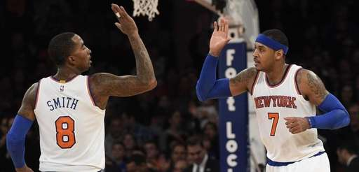 New York Knicks guard J.R. Smith and forward