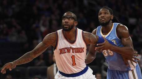 New York Knicks forward Amar'e Stoudemire and Denver