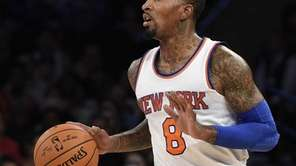 Knicks guard J.R. Smith looks for a shot