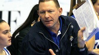 John Glenn's coach Kevin Harrington during the Class