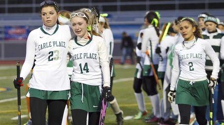 Carle Place's Shannon McGuinness, 23, Elssa Frain, 14,