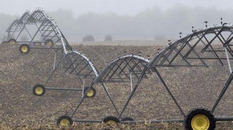 An irrigation pivot, seen in an undated photo,