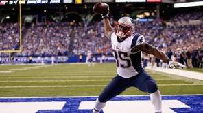Jonas Gray of the New England Patriots celebrates