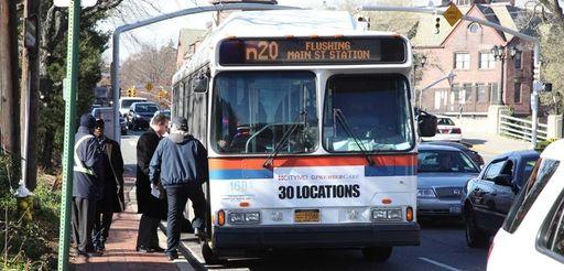 A NICE bus is held Wednesday, Nov. 19,