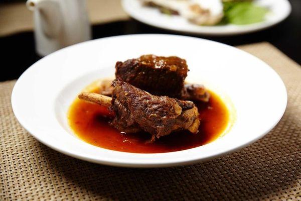 An appetizer of savory Miyazaki beef short ribs