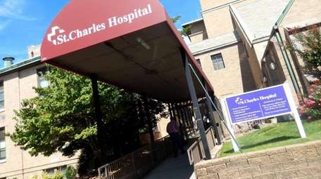 St. Charles Hospital in Port Jefferson is shown