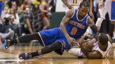 New York Knicks' J.R. Smith goes to the