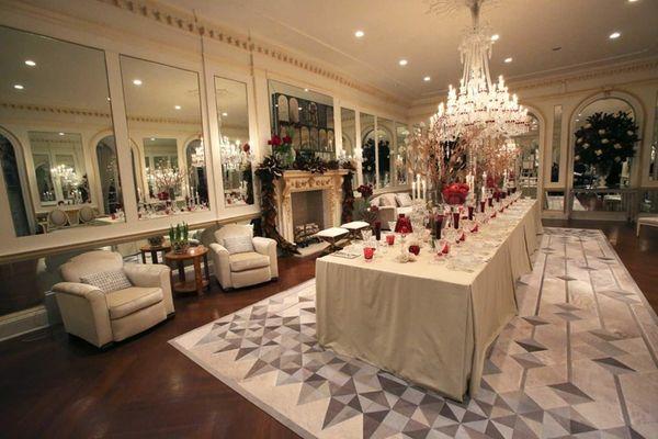 Manhattan-based Amy Lau Design's living room turned dining
