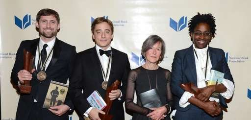 The 2014 National Book Award winners, from left: