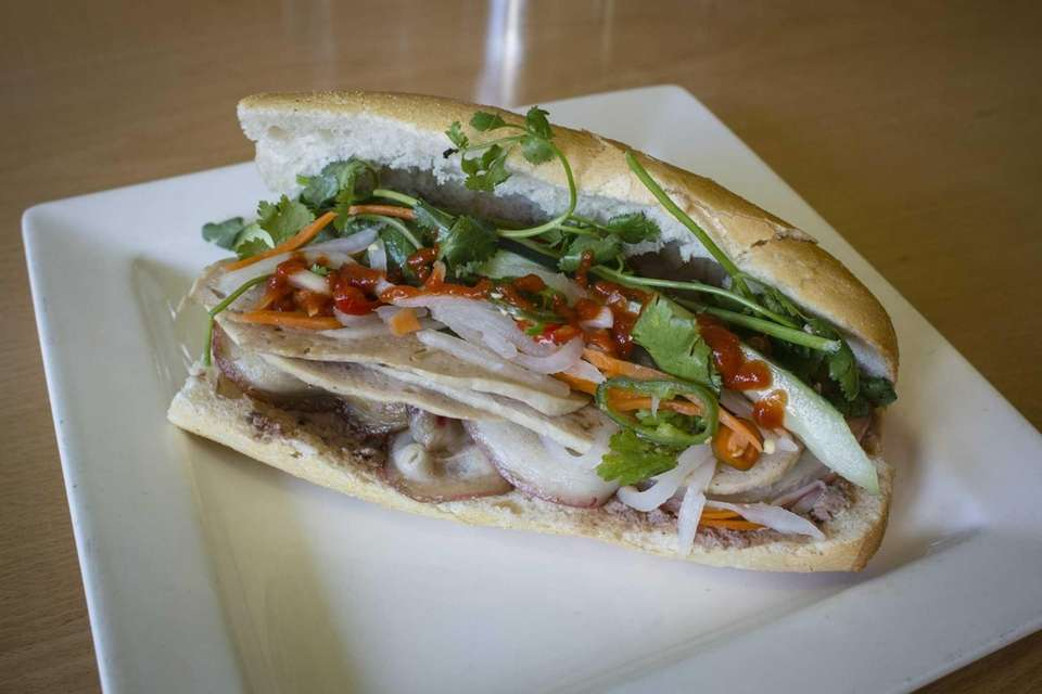 Banh Mi sandwich at The Rolling Spring Roll