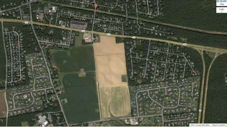 Google Earth image of the sod farm in