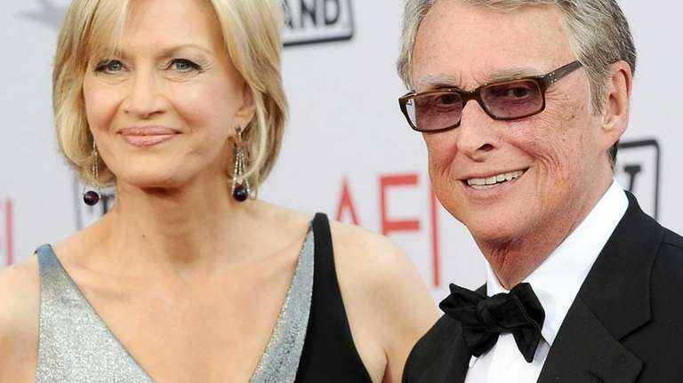 Diane Sawyer and Mike Nichols arrive at the