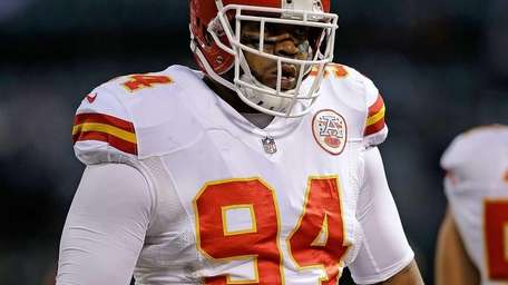 Kevin Vickerson of the Kansas City Chiefs looks