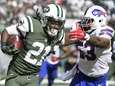 New York Jets running back Chris Johnson rushes