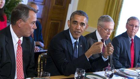 In this Nov. 7, 2014 file photo, President