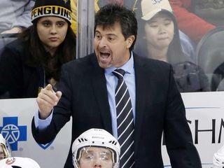 New York Islanders head coach Jack Capuano gives