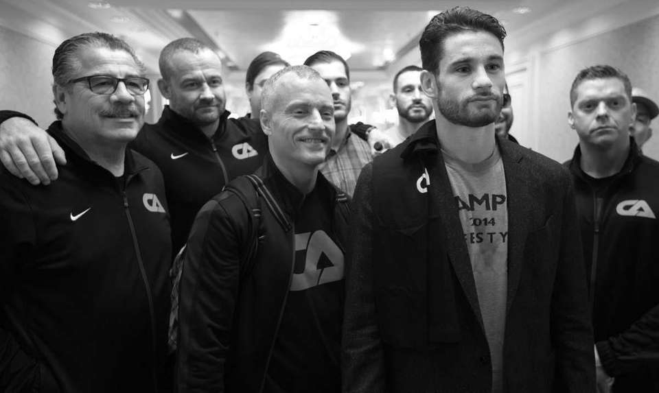Team Algieri takes a group photo during fight