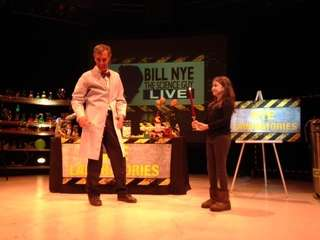 "Bill Nye ""The Science Guy"" pictured with Isabelle"