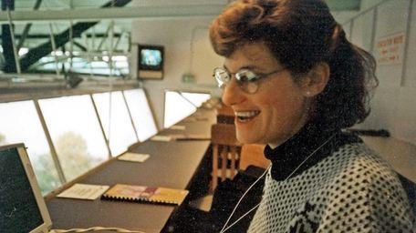 Lisa Nehus Saxon at Husky Stadium circa 1995.