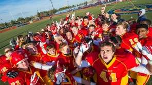 Chaminade celebrates after winning the CHSFL AA championship