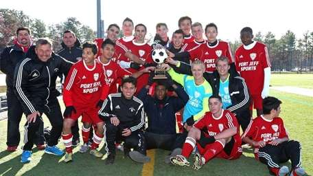 The Suffolk Red 1 team celebrates with the