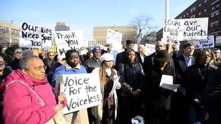 Parents and anti-charter school supporters speak out in