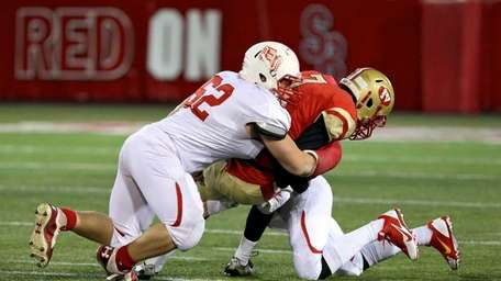 East Islip's Kyle Nunez sacks Half Hollow Hills