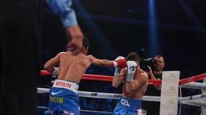 WBO welterweight champion Manny Pacquiao, left, of the