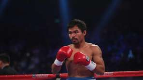 WBO welterweight champion Manny Pacquiao of the Philippines