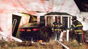 A car crashed into this Lake Ronkonkoma house