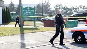 Nassau County police investigate a shooting at the
